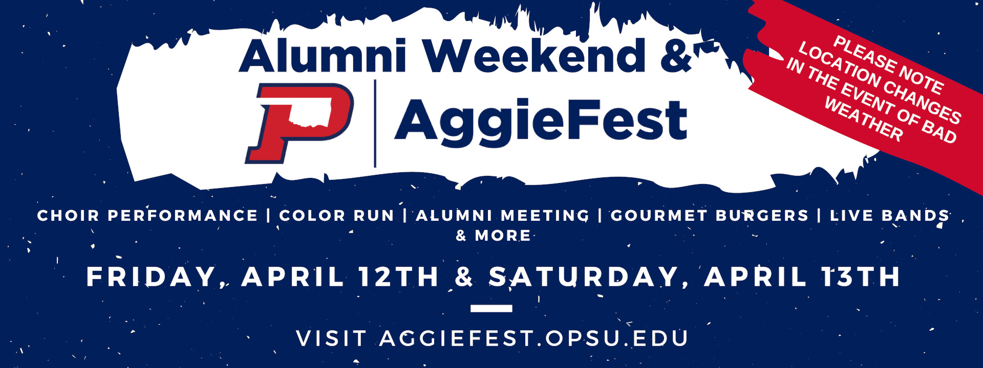 AggieFest - CHOIR PERFORMANCE | COLOR RUN | ALUMNI MEETING | GOURMET BURGERS | LIVE BANDS